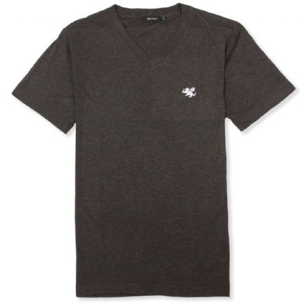 Senlak V-Neck Triblend Logo T-shirt - Charcoal